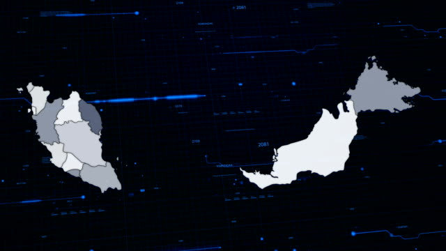Malaysia network map The communication network is distributed around the Malaysia johor bahru stock videos & royalty-free footage
