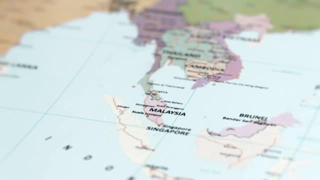 ASIA Malaysia on World Map