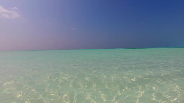 Maldives beautiful beach background white sandy tropical paradise island with blue sky sea water ocean 4k lagoon video