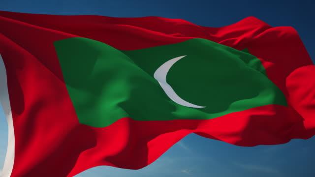 4K Maldives Flag - Loopable video