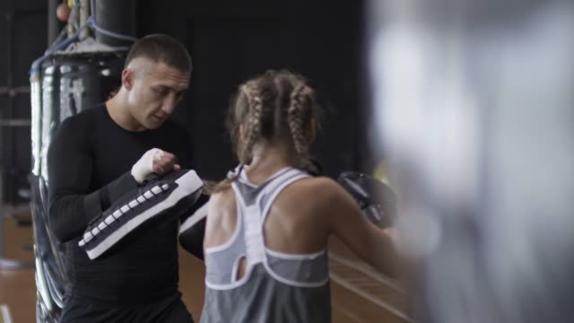 Male Boxing Coach at Work video