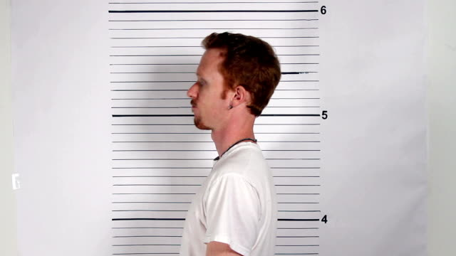 Male Criminal Mugshot video