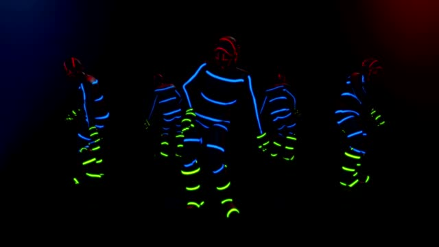 male dance group - hip hop video stock e b–roll