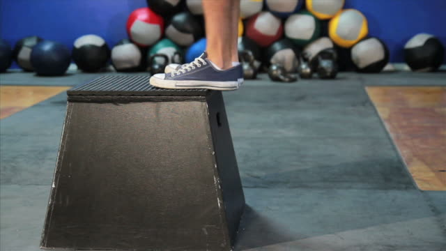 male does box jump - active lifestyle stock videos & royalty-free footage