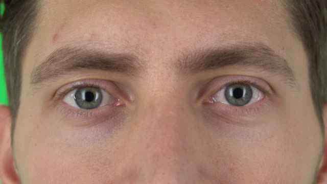 Male eyes close up, macro portrait