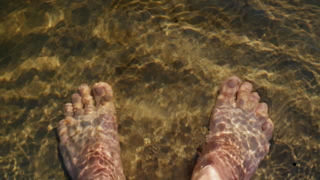 Male Feet Under Water video