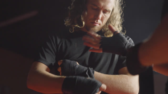 Male Fighter Wraps His Hands video