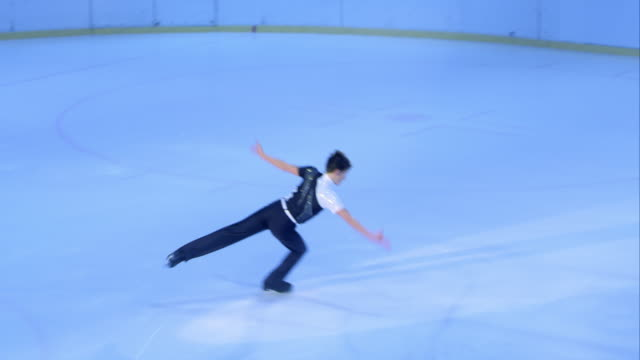TS Male figure skater making a great performance video
