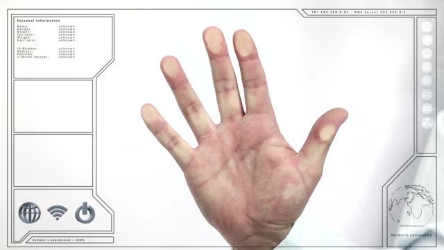 Male Fingerprint scan video