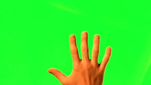 Male hand gestures - green screen and alpha matte Male hand gestures - green screen and alpha matte gripping stock videos & royalty-free footage