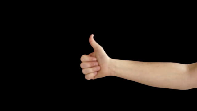 Male hand makes the o.k sign video