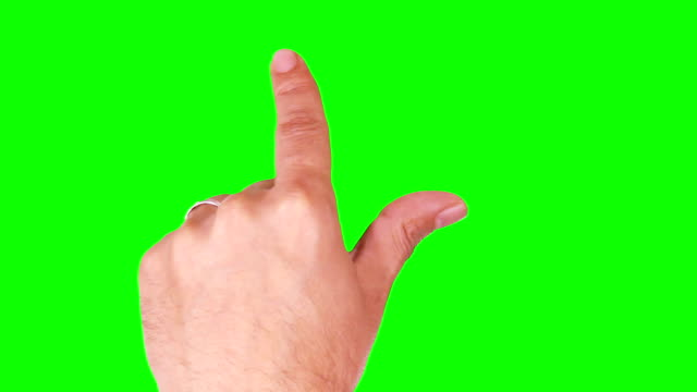 Male hand. Mobile phone. Married. Touchscreen gestures. Green screen. video