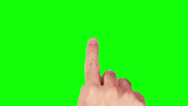 Male hand. Mobile phone. Touchscreen gestures. Green sceen. Set of 20 hand gestures, showing the uses of computer touchscreen, tablet or trackpad. Full HD with green screen. Animation created exclusively for iStockphoto. finger stock videos & royalty-free footage