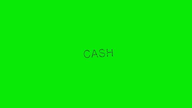 """남성의 손 스탬핑 단어 """"현금"""" 녹색 화면 - stamp 스톡 비디오 및 b-롤 화면"""