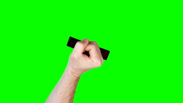 남성 스탬핑 맹검액 메시지를 고무도장 - stamp 스톡 비디오 및 b-롤 화면