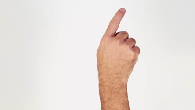 Male hand. Tablet. Touchscreen gestures. Luma matte. video