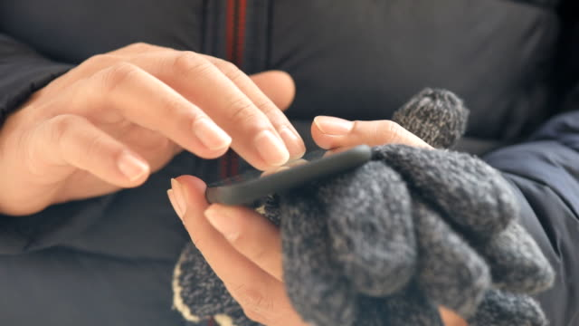 Male hands  using smart phone. video