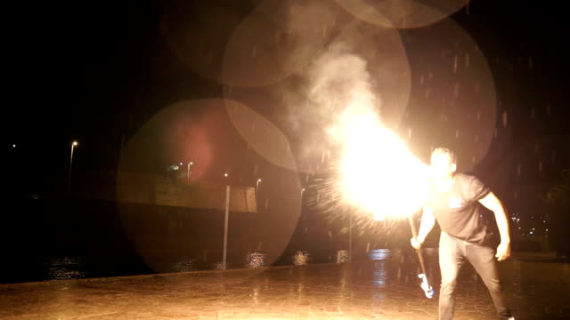 male master fakir with fire works, performance outdoors, flame control man male master fakir with fire works, performance outdoors, flame control man pyrotechnic effects stock videos & royalty-free footage