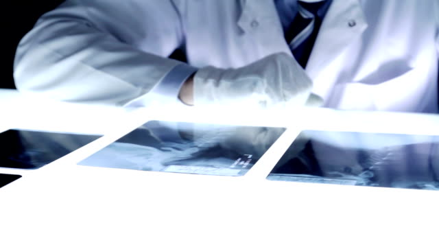 Male Medical Investigator Forensic Detective Looking Evidence video