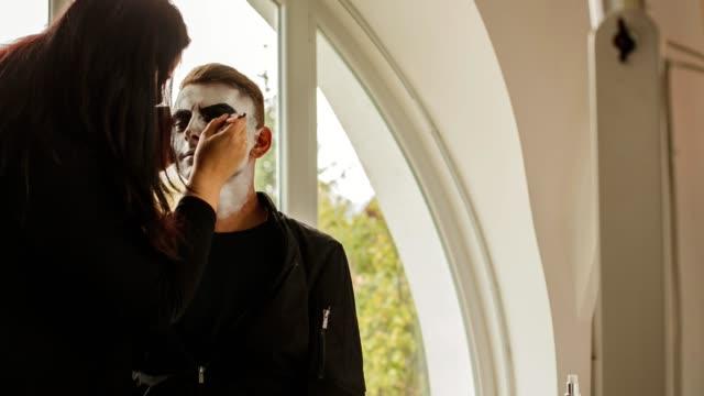 Male model preparing for shooting video