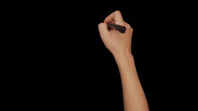 男性の裸の手のジェスチャー色のホワイトボードマーカー書き消しゴム - スケッチ点の映像素材/bロール
