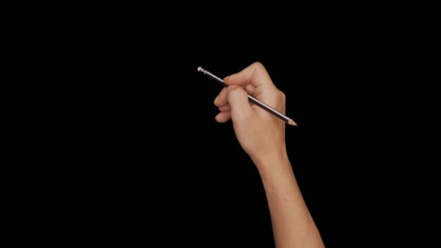vídeos de stock e filmes b-roll de male naked hand gestures pencil, pen writing, pen signature, stamp, eraser - caneta