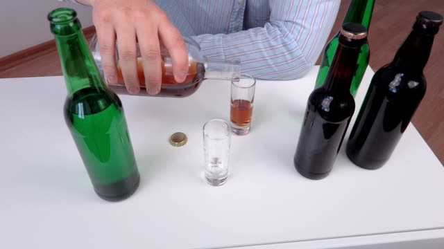 Male reject glass of alcohol video