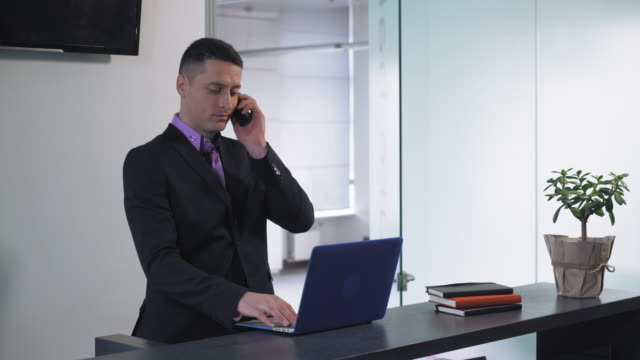 Male secretary at work video