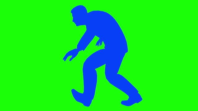 manlig silhouette hopkrusad smygande slinga promenad - på tå bildbanksvideor och videomaterial från bakom kulisserna