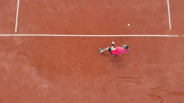 male tennis player playing tennis - target australia stock videos & royalty-free footage