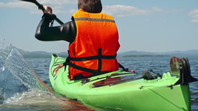 Male Tourist Enjoying Kayaking video