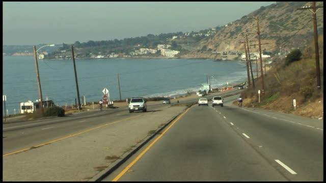 vídeos de stock e filmes b-roll de (hd1080) malibu condução pch pacific coast highway us1 (califórnia, eua - estrada 001