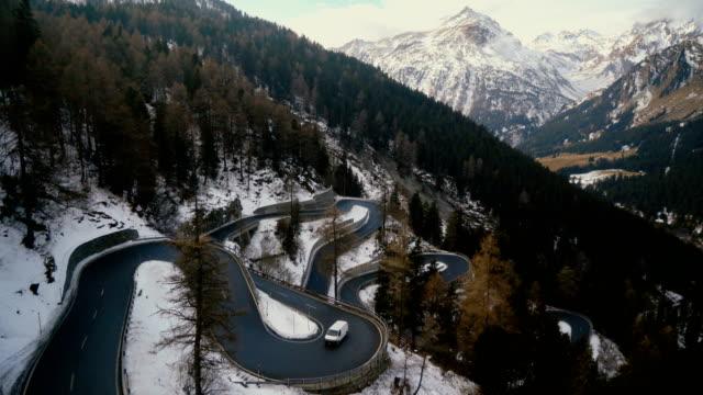 Maloja pass in Switzerland video