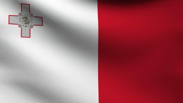 Malta flag. video