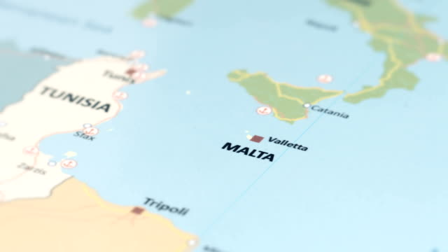 Europe Malta On World Map Stock Video & More Clips of 4K Resolution ...