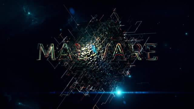 vídeos de stock e filmes b-roll de malware matrix cube - vírus informático