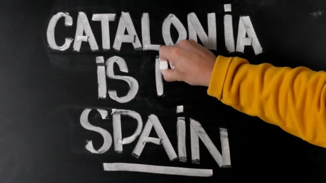 Man against unification of Spain and Catalonia video