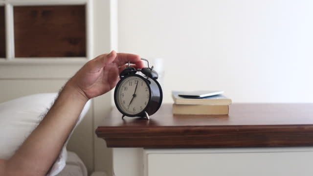 Man and an alarm clock video