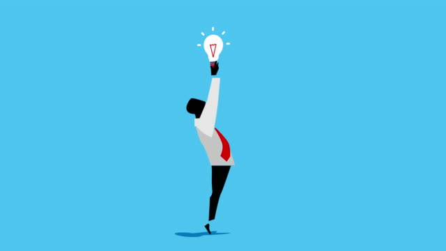 Man and idea Man develops and presents new idea growth icon stock videos & royalty-free footage