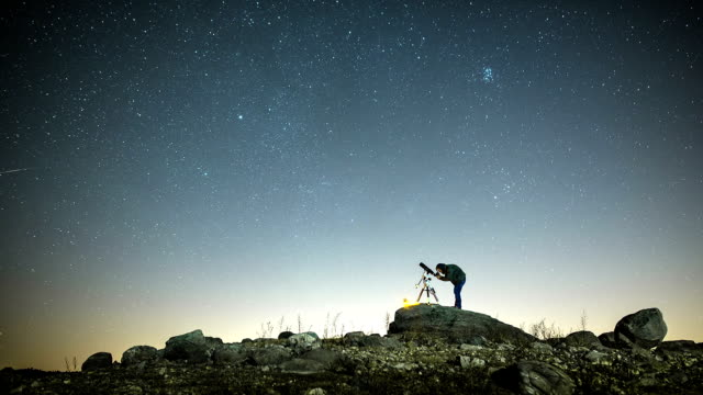 Man and stars