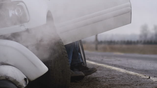 Man assesses the damage to his truck video