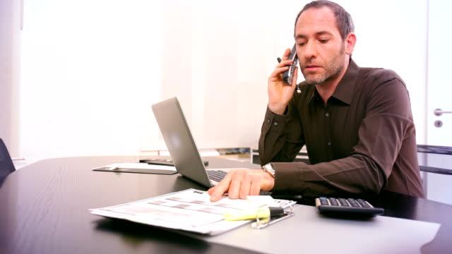 man at work / telephone video