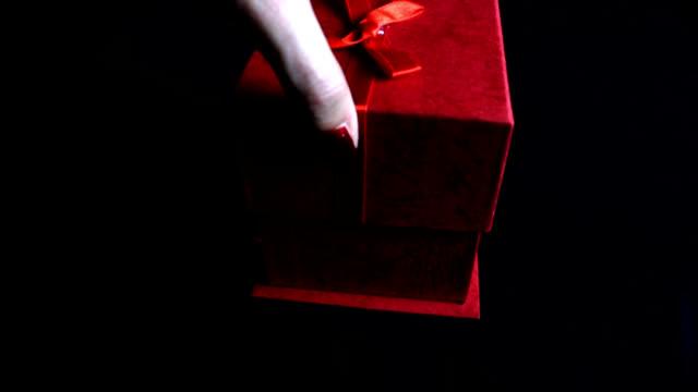 Man bracelet in a gift box video