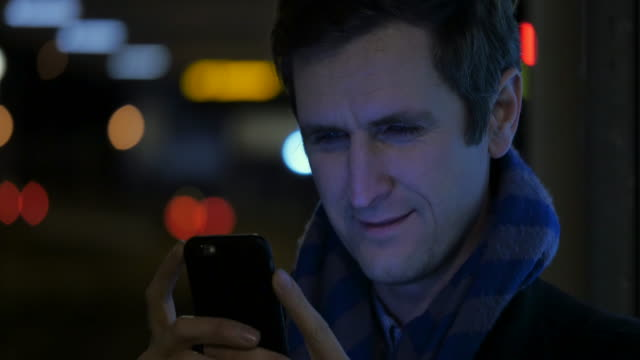 Man Browsing on a Phone video