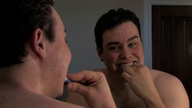 Man Brushing Teeth Zoom video