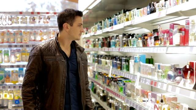 Man choosing perfume video