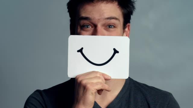 Man Closeup showing his Emotions video