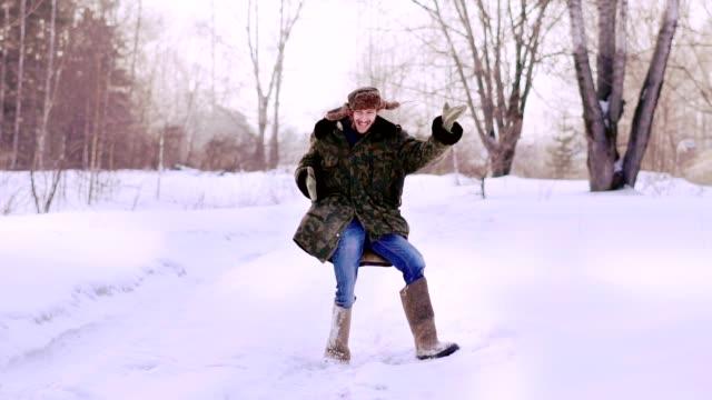 man dancing funny