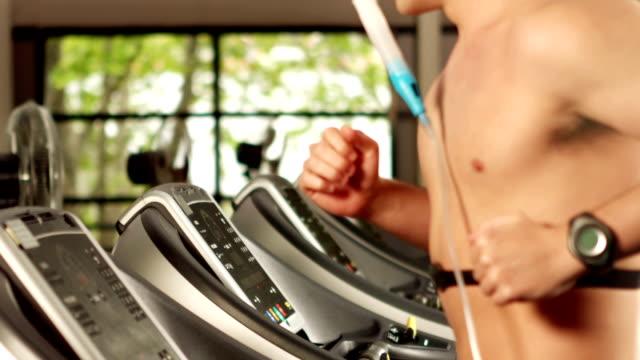 Man doing fitness test on treadmill video