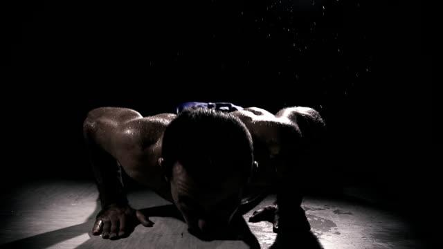 HD SUPER SLOW MO: Man Doing Push Ups video